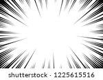 comic book radial lines... | Shutterstock .eps vector #1225615516