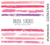 beauty and cosmetics brush... | Shutterstock .eps vector #1225617643