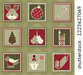 set of vector christmas...   Shutterstock .eps vector #1225627069