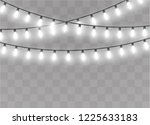 christmas lights isolated on...   Shutterstock .eps vector #1225633183