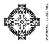 celtic cross  logo icon | Shutterstock .eps vector #1225637059