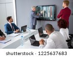director analyzing statistics... | Shutterstock . vector #1225637683