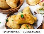 homemade potato cheese pierogi  ...   Shutterstock . vector #1225650286