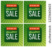 christmas sale banner and... | Shutterstock .eps vector #1225660603
