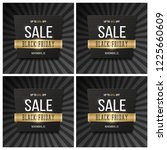 black friday sale banner and... | Shutterstock .eps vector #1225660609