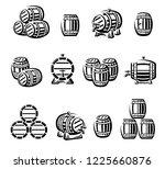barrels set. vector  | Shutterstock .eps vector #1225660876