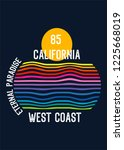 california eternal paradise t... | Shutterstock .eps vector #1225668019