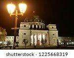 street light in front of old... | Shutterstock . vector #1225668319