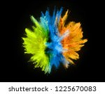 colored powder explosion...   Shutterstock . vector #1225670083