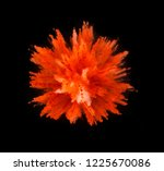 explosion of yellow powder... | Shutterstock . vector #1225670086