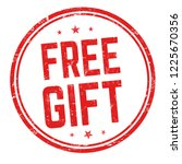 free gift sign or stamp on... | Shutterstock .eps vector #1225670356