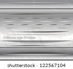set of divider objects | Shutterstock .eps vector #122567104