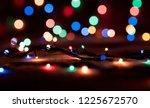 christmas lights blurred... | Shutterstock . vector #1225672570