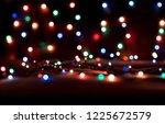 christmas lights blurred... | Shutterstock . vector #1225672579