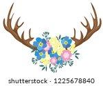 vector illustration of antlers... | Shutterstock .eps vector #1225678840