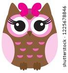vector illustration of a cute... | Shutterstock .eps vector #1225678846