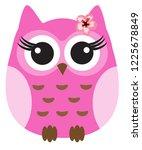 vector illustration of a cute... | Shutterstock .eps vector #1225678849