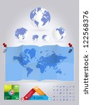 world map | Shutterstock .eps vector #122568376