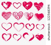 set of hearts for valentines on ... | Shutterstock .eps vector #122568394