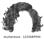trendy woman curly hairs blond... | Shutterstock .eps vector #1225689940