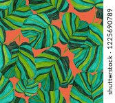 creative seamless pattern with... | Shutterstock . vector #1225690789