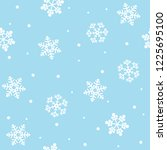 seamless christmas pattern with ... | Shutterstock .eps vector #1225695100