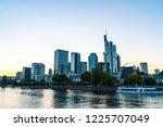 frankfurt am main skyline... | Shutterstock . vector #1225707049