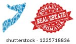 real estate combination of blue ... | Shutterstock .eps vector #1225718836