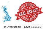 real estate collage of blue...   Shutterstock .eps vector #1225721110