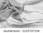 texture chiffon fabric gray... | Shutterstock . vector #1225737136