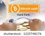 concept of bitcoin cash... | Shutterstock . vector #1225748176