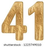 numeral 41  forty one  isolated ...   Shutterstock . vector #1225749010