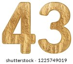 numeral 43  forty three ...   Shutterstock . vector #1225749019
