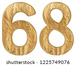 numeral 68  sixty eight ... | Shutterstock . vector #1225749076