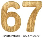 numeral 67  sixty seven ... | Shutterstock . vector #1225749079