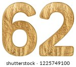 numeral 62  sixty two  isolated ... | Shutterstock . vector #1225749100