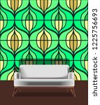 seamless retro pattern in the... | Shutterstock .eps vector #1225756693