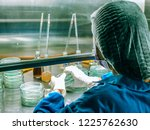 blurred of scientist doing the... | Shutterstock . vector #1225762630