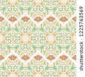 golden seamless ornamental... | Shutterstock .eps vector #1225763569