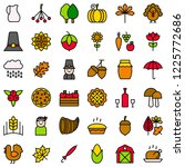 thanksgiving related icon set... | Shutterstock .eps vector #1225772686