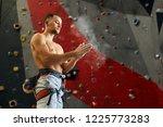bottom view of climber... | Shutterstock . vector #1225773283