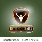 gold shiny emblem with lat...   Shutterstock .eps vector #1225779913