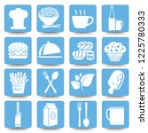 food and drink vector icon set | Shutterstock .eps vector #1225780333