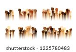 hands up silhouettes  dividers... | Shutterstock .eps vector #1225780483