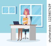 female doctor in consulting room | Shutterstock .eps vector #1225807639