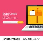 email subscribe  online...   Shutterstock .eps vector #1225813870
