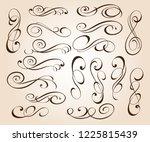 set of elegant decorative... | Shutterstock .eps vector #1225815439