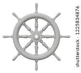 Clay Render Of Ship Steering...