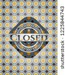 closed arabesque emblem... | Shutterstock .eps vector #1225844743