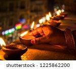 lamps   called deepam in india  ...   Shutterstock . vector #1225862200